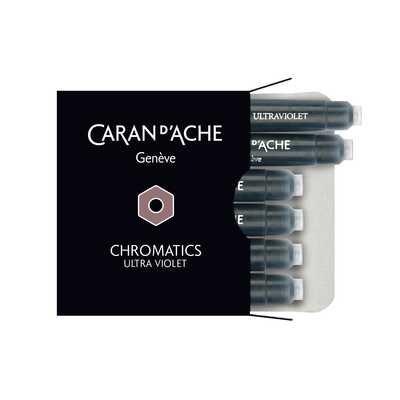 Naboje atramentowe Chromatics Caran d'Ache, kolor Ultra Violet (fioletowy)