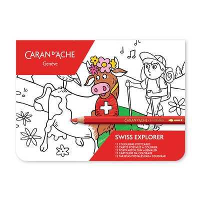 Pocztówki do kolorowania Caran d'Ache SWISS EXPLORER