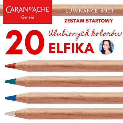 ZESTAW STARTOWY ELFIKA - 20 ULUBIONYCH KREDEK CARAN D'ACHE LUMINANCE 6901