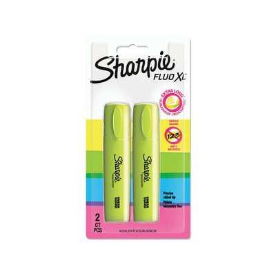 Zakreślacz Sharpie Fluo XL, żółty, 2 sztuki