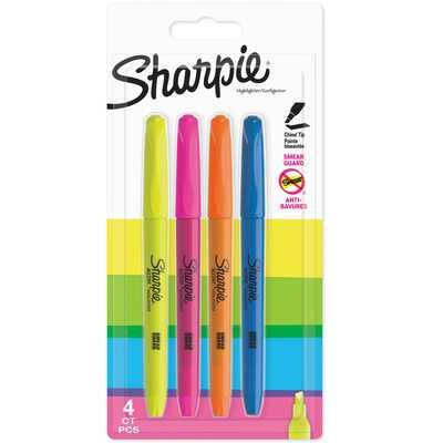 Zakreślacze Sharpie Accent Pocket, 4 kolory fluorescencyjne