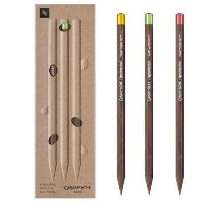 Zestaw 3 ołówków Caran d'Ache Swiss Wood Nespresso, Edycja 4