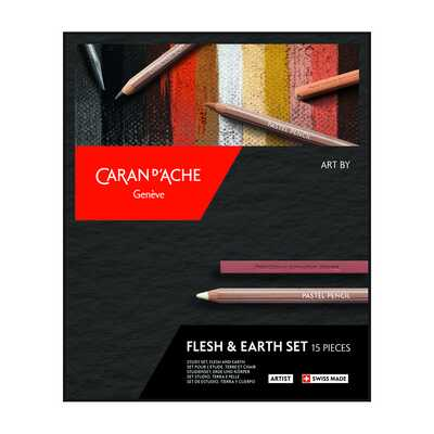Zestaw do rysunku Art by Caran d'Ache Flesh & Earth, 15 elementów