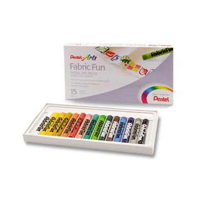 Zestaw kreatywny Pentel: 15 pasteli do tkanin i długopis