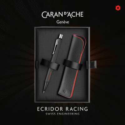 Zestaw upominkowy - ołówek Caran d'Ache Ecridor Racing 0,7 mm z etui