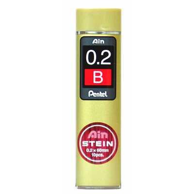 Grafity ołówkowe Pentel AIN Stein B, 0.2 mm