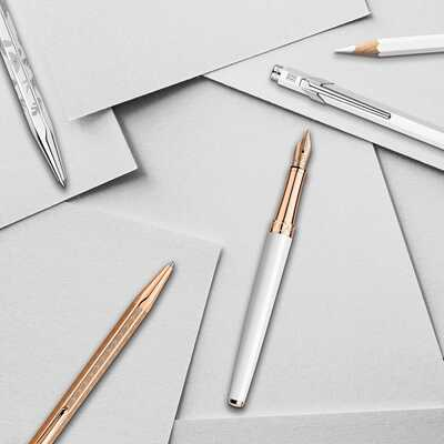 Ołówek automatyczny 0,7 mm Leman Slim White Rose Gold Caran d'Ache