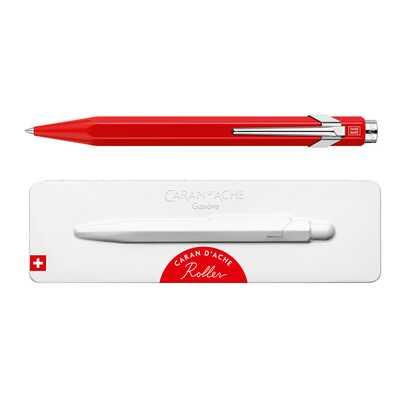 Pióro kulkowe Caran d'Ache 849, czerwone w pudełku