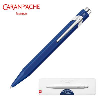 Pióro kulkowe Caran d'Ache 849, niebieskie w pudełku